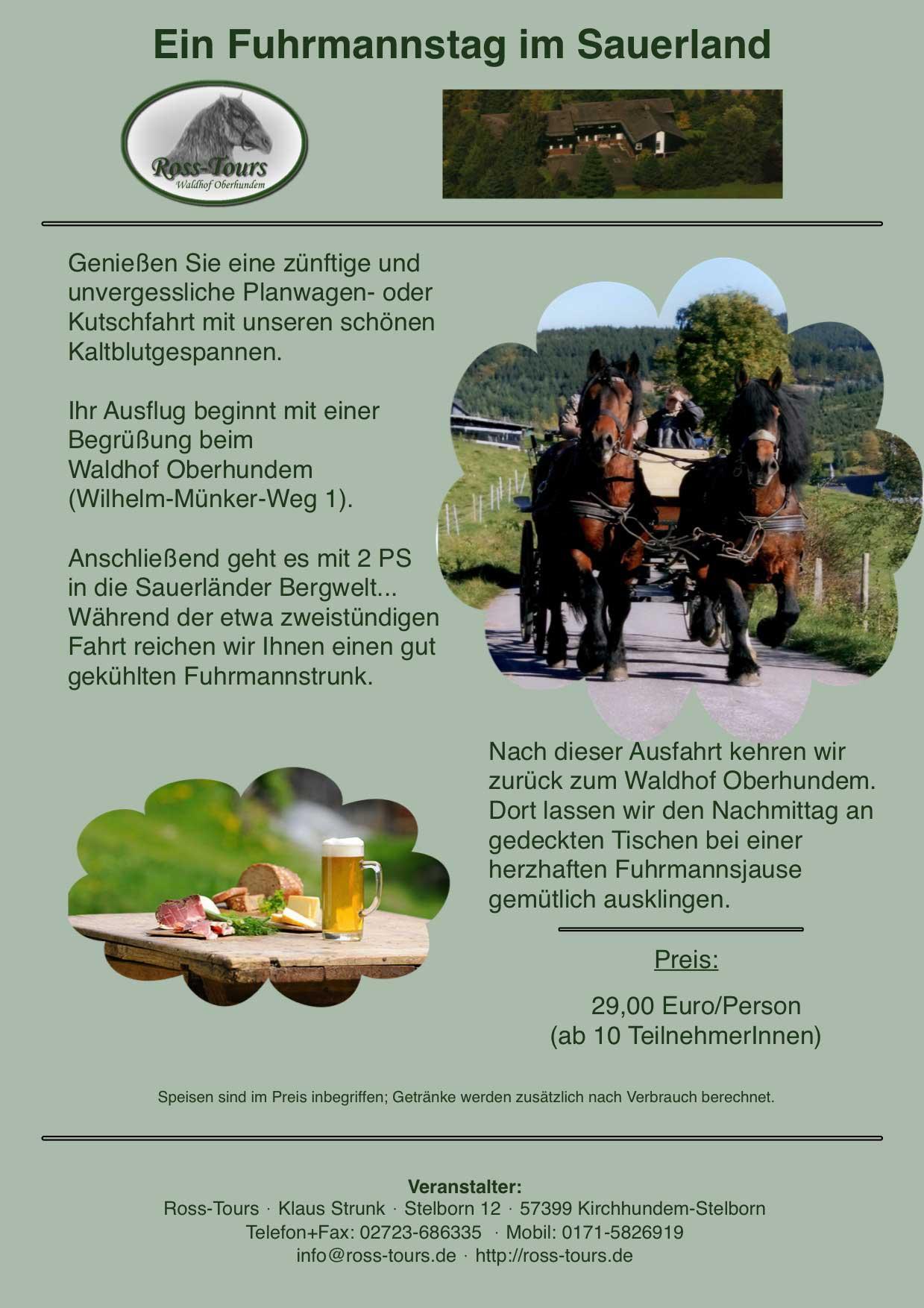Fuhrmannstag im Sauerland